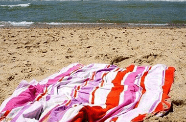 What size is a large beach towel?