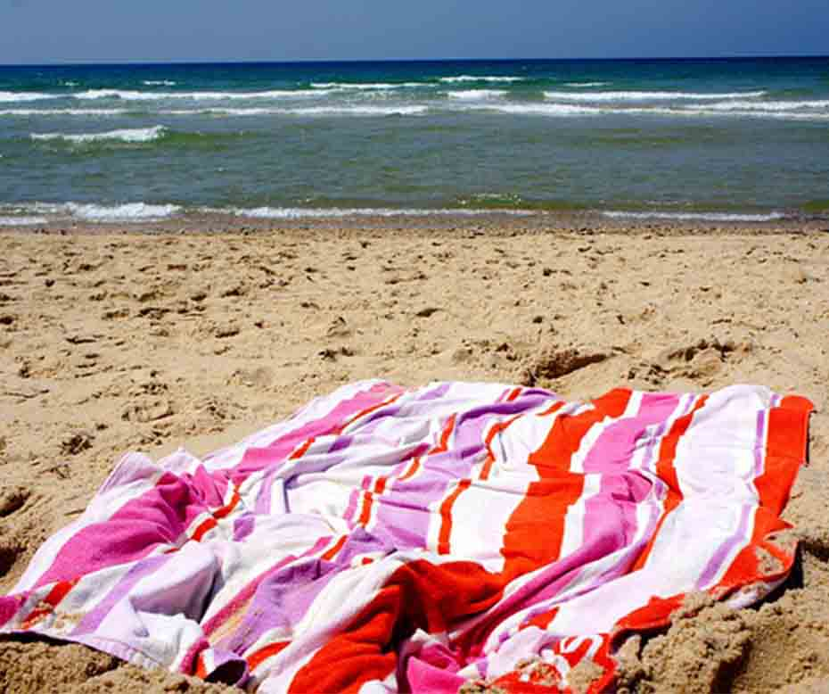 Large Towels for the Beach in Summer